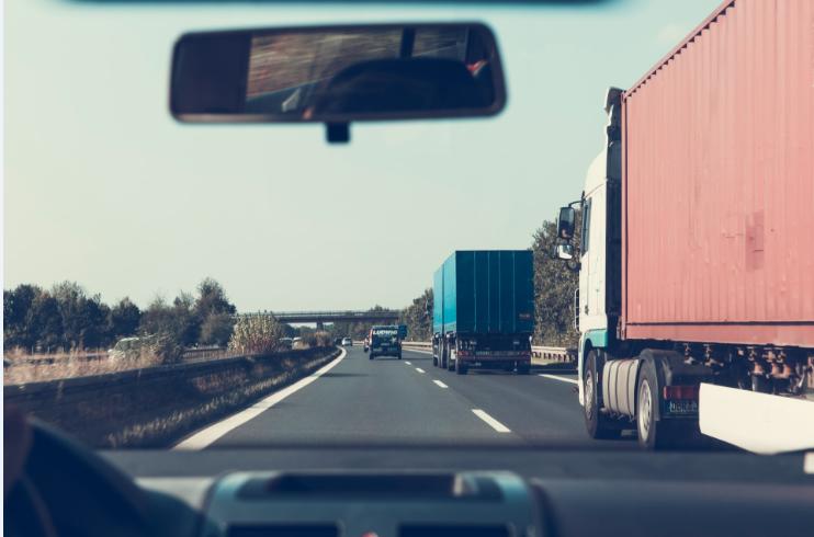 trucks stuck on highway