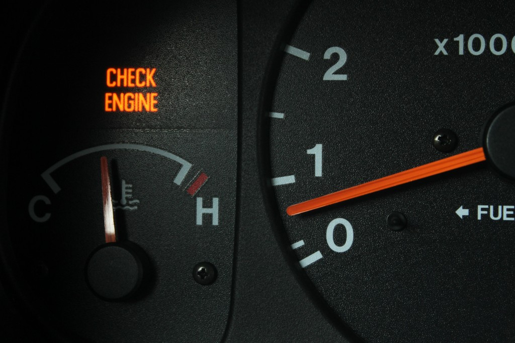 Check engine signal is lit