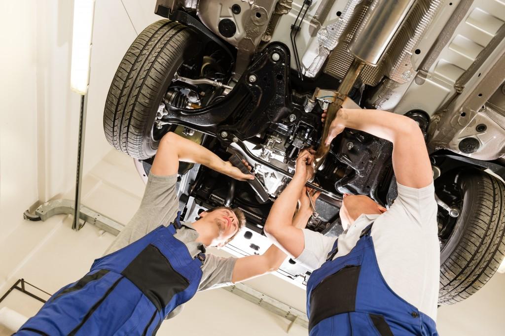 Repairing the unchasis af a car